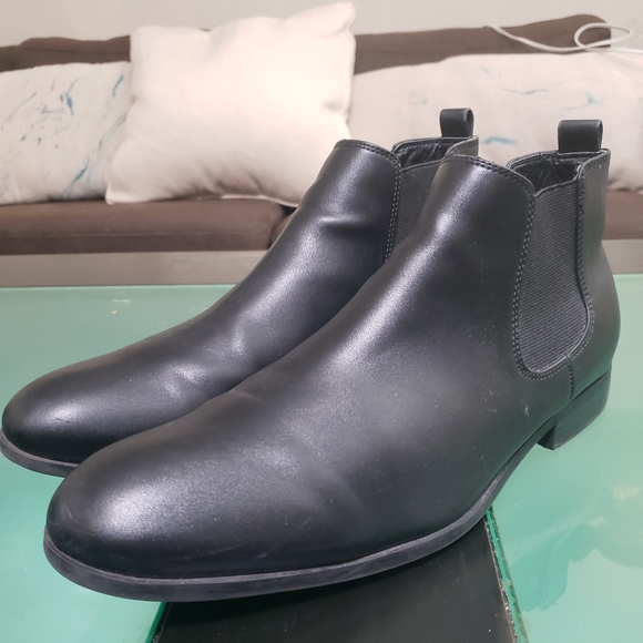 H M Shoes Hm Black Leather Ankle Chelsea Boots Mens Poshmark